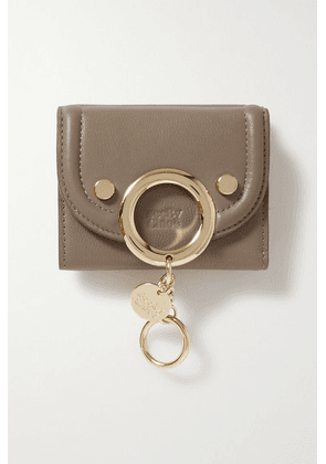 See By Chloé - Mara Mini Embellished Textured-leather Wallet - Gray