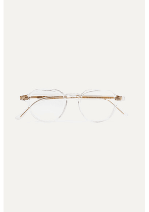 Cutler and Gross - Round-frame Acetate Optical Glasses - Clear