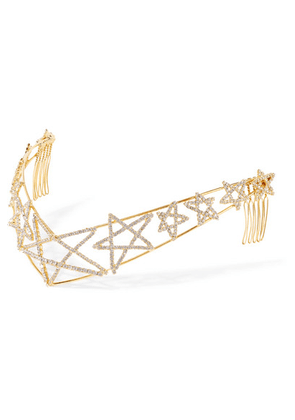 LELET NY - Gold-plated Crystal Headband - one size