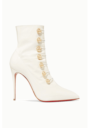 Christian Louboutin - Liossima 100 Patent-leather Ankle Boots - White