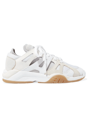 adidas Originals - Dimension Low Leather, Neoprene And Mesh Sneakers - White