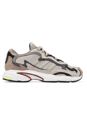 adidas Originals - Temper Run Mesh, Suede And Leather Sneakers - Beige