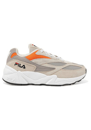 Fila - 94 Suede, Leather And Canvas Sneakers - Beige