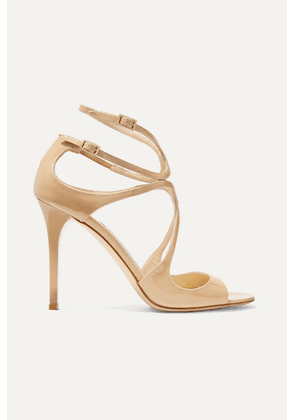 Jimmy Choo - Lang 100 Patent-leather Sandals - IT37.5