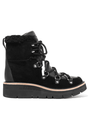 rag & bone - Skyler Shearling-lined Suede And Leather Ankle Boots - Black