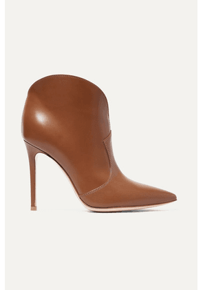 Gianvito Rossi - Mable 105 Leather Ankle Boots - Brown
