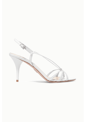 Prada - 85 Leather Slingback Sandals - White