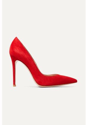 Gianvito Rossi - 105 Suede Pumps - Red