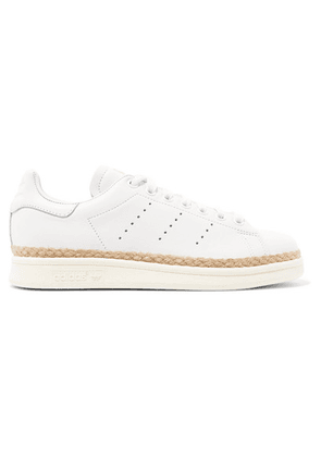 adidas Originals - Stan Smith Bold Rope-trimmed Leather Sneakers - White