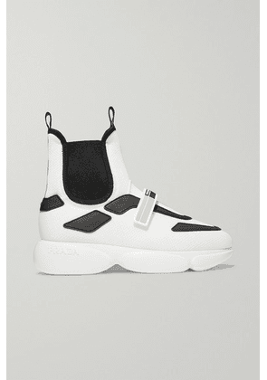 Prada - Cloudbust Logo-embossed Rubber, Neoprene And Leather-trimmed Mesh High-top Sneakers - White