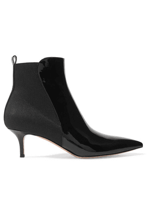 Gianvito Rossi - 55 Patent-leather Ankle Boots - Black