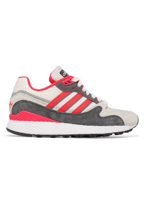 adidas Originals - Ultra Tech Mesh And Nubuck Sneakers - Gray