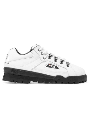 Fila - Trailblazer Logo-appliquéd Leather Sneakers - White