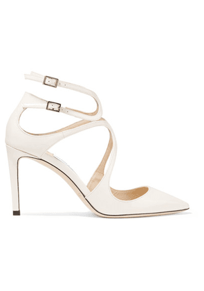 Jimmy Choo - Lancer 85 Patent-leather Pumps - White
