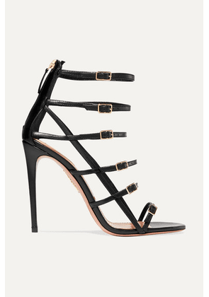 Aquazzura - Super Model 105 Leather Sandals - Black