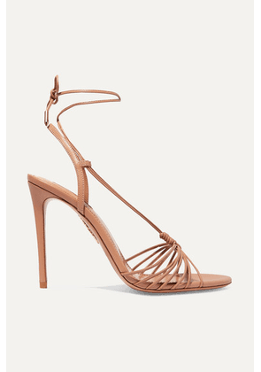 Aquazzura - Whisper 105 Leather Sandals - Antique rose