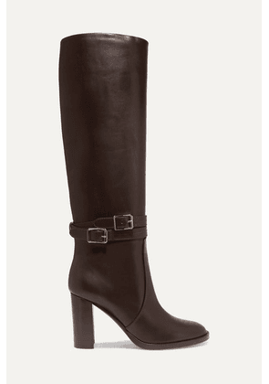 Gianvito Rossi - 85 Leather Knee Boots - Dark brown