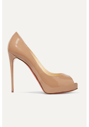 Christian Louboutin - New Very Prive 120 Patent-leather Platform Pumps - Beige
