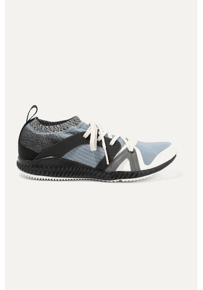 adidas by Stella McCartney - Crazytrain Pro Mesh And Stretch-knit Sneakers - Blue