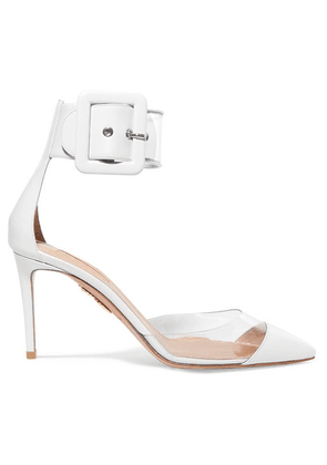 Aquazzura - Seduction Pvc And Leather Pumps - White