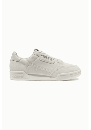 adidas Originals - Continental 80 Leather-trimmed Suede Sneakers - Off-white
