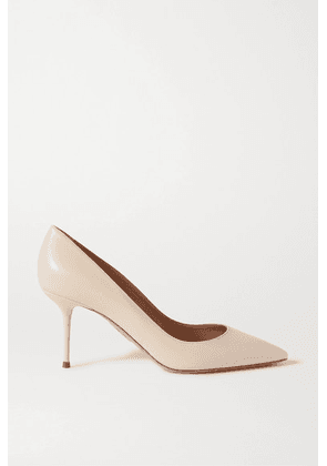 Aquazzura - Purist 75 Leather Pumps - Off-white