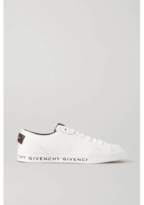 Givenchy - Logo-print Leather And Rubber Sneakers - White