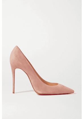Christian Louboutin - Kate 100 Suede Pumps - Neutral