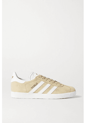 adidas Originals - Gazelle Suede And Leather Sneakers - Beige