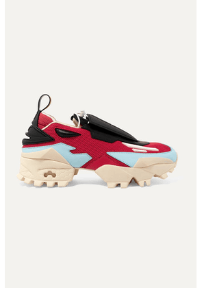 Reebok - + Pyer Moss Mesh And Leather Sneakers - Red