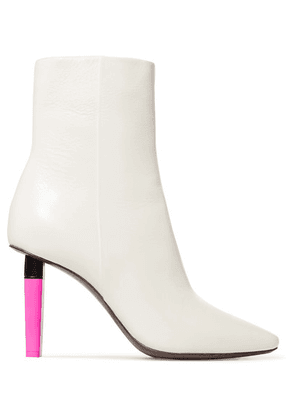 Vetements - Leather Ankle Boots - White
