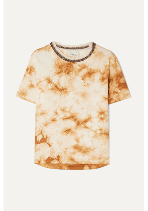 3.1 Phillip Lim - Wool-trimmed Tie-dye Cotton-jersey T-shirt - Beige