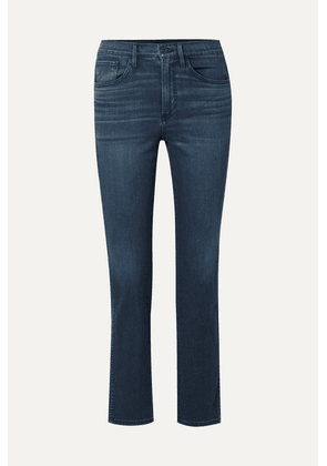 3x1 - Stevie Cropped High-rise Straight-leg Jeans - Dark denim