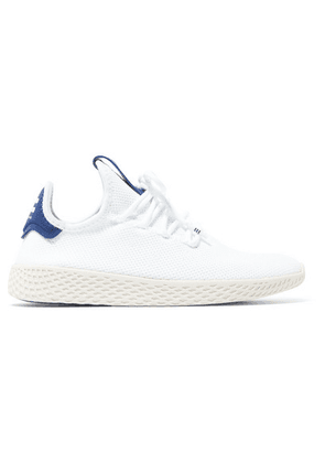 adidas Originals - + Pharrell Williams Tennis Hu Stretch-knit Sneakers - White