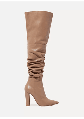 Gianvito Rossi - 100 Leather Over-the-knee Boots - Sand