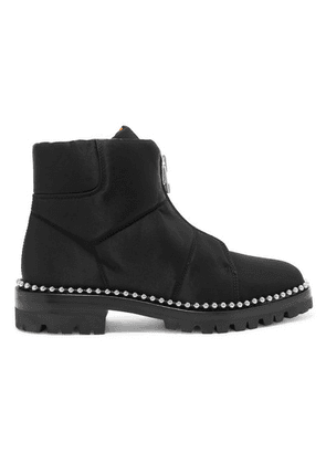 Alexander Wang - Cooper Studded Canvas Ankle Boots - Black