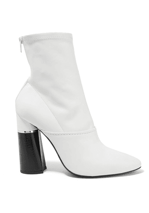 3.1 Phillip Lim - Kyoto Leather Sock Boots - White