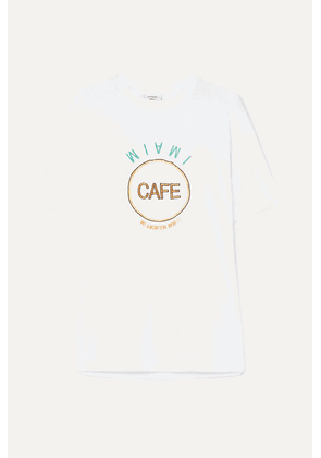 Vetements - Embroidered Cotton-jersey T-shirt - White