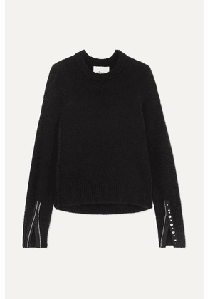 3.1 Phillip Lim - Embellished Knitted Sweater - Black