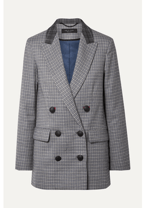 rag & bone - Ellie Double-breasted Checked Wool-blend Blazer - Gray