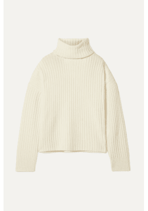 RE/DONE - Oversized Ribbed Wool And Cashmere-blend Turtleneck Sweater - Ivory
