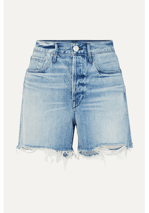3x1 - Blake Distressed Denim Shorts - Mid denim