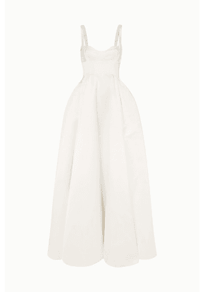 Emilia Wickstead - Diamond Duchesse-satin Gown - White
