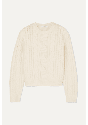 FRAME - Cable-knit Wool-blend Sweater - Off-white
