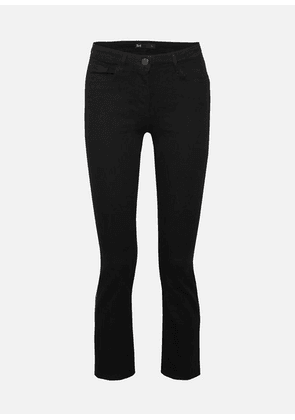 3x1 - W25 Crop Mid-rise Flared Jeans - Black