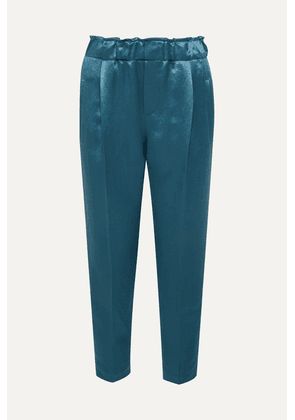 Brunello Cucinelli - Satin Pants - Blue