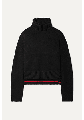 Proenza Schouler - Cropped Knitted Turtleneck Sweater - Black
