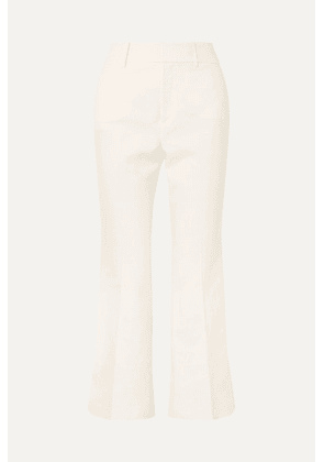 FRAME - Linen-blend Flared Pants - White