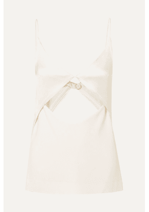 Dion Lee - Tessellate Cutout Satin And Grosgrain Camisole - Ivory