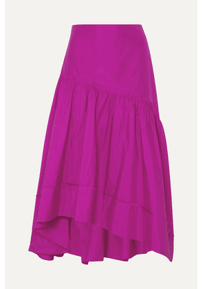 3.1 Phillip Lim - Shirred Silk-taffeta Skirt - Fuchsia